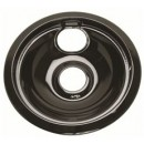 Electric Range Porcelain-Coated Drip Pan Fits Frigidaire, Black, 6 In.