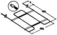 GB Industrial Bake Broil Oven Element For Whirlpool Or Roper Rp835 at Sears.com